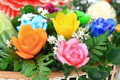 fruits and flowers - stock photo