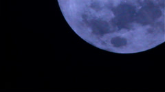 Blue Moon Down cloudy Stock Footage