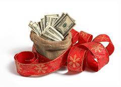 Bag of money Stock Photos