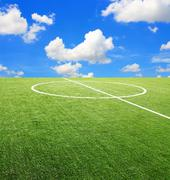 Soccer football field stadium Stock Photos