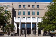 united states courthouse pensacola - stock photo