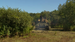 Russian tank back Stock Footage