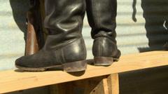 German boots WW2 Stock Footage