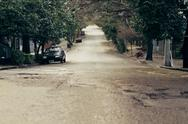 Stock Photo of Empty Street on Suburb