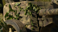 German Cannon Close Up Stock Footage