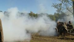 German Cannon Blast 2 Stock Footage