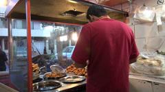 Sandwich shop in Iran Stock Footage