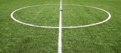 Stock Photo of green grass texture in soccer field