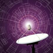 satellite dishes antenna - stock illustration