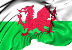 Flag of wales Stock Illustration