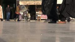 Iran feet legs people walking street chadors women shoes high heels Stock Footage