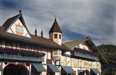 Stock Photo of german buildings leavenworth washington