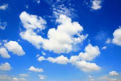 Stock Photo of blue sky with cloud closeup