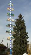 Stock Photo of maypole german town leavenworth washington
