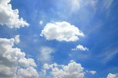 Stock Photo of clouds in the blue sky