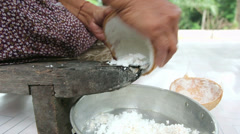 Thai traditional process for coconut milk Stock Footage