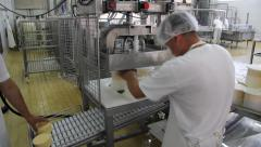 Cheese production Stock Footage