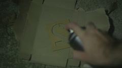 SPRAY SPRAYPAINT spray paint - stock footage