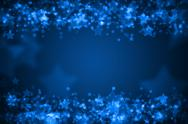 Stock Illustration of blue glowing bokeh holiday background