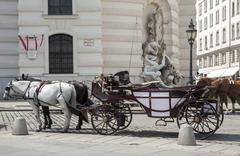 horse-driven carriage - stock photo