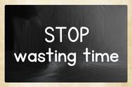 Stock Illustration of stop wasting time