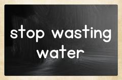 Stop wasting water Stock Illustration