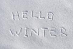 Hello winter Stock Photos