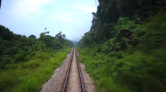 Railroad tracks in moving Stock Footage