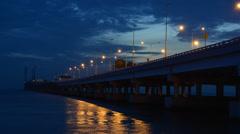 Penang second bridge sunrise time lapse Stock Footage