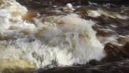 Rapids of water creating bubbles Stock Footage