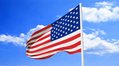 The American Flag Stock Footage