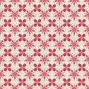 Stock Illustration of floral pattern in beige and red colors