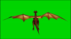 Dragon in flight - isolated green screen footage - Clip 10 Stock Footage