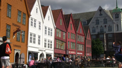 Norway - Bryggen Stock Footage