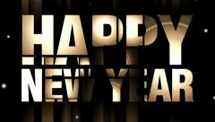 New year piece of text effects 10 Stock Footage