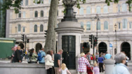 Stock Video Footage of Trafalgar Square the World's Smallest Police Station