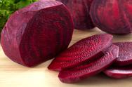 Stock Photo of sliced beet closeup