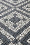 paving stones with pattern - stock photo