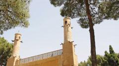 "Manar Jonban (""The Swinging Minaret"") mausoleum. Isfahan, Iran Stock Footage"