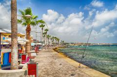 Tourist area in Cyprus city Paphos Stock Photos
