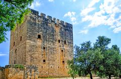 Kolossi Castle,strategic important fort of Medieval Cyprus Stock Photos