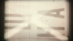 Leader tape  black and white professional film Stock Footage