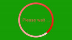 """""""Please wait"""" loading bar  -green screen- Stock Footage"""