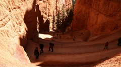 Hikers in Bryce Canyon National Park - Utah Stock Footage