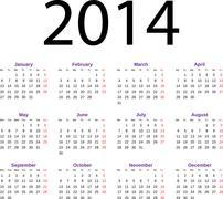 Stock Illustration of calendar 2014