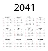 calendar 2041 - stock illustration