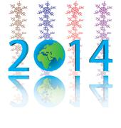Stock Illustration of new year 2014