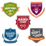 Stock Illustration of Band Camp Badges