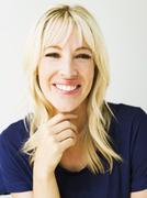 Stock Photo of Studio portrait of blonde woman