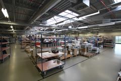 Industrial assembly shop Stock Photos